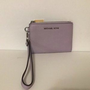 MICHAEL KORS Small Coin Purse Leather Purple